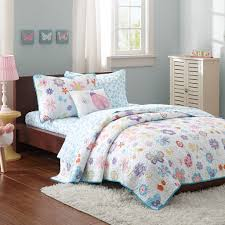 girls cowgirl bedding blue pink butterfly u0026 ladybug spring floral girls bedding twin or
