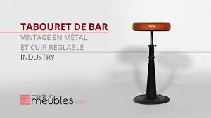 Tabouret De Bar Industriel Pas Cher by Tabouret De Bar Vintage Youtube