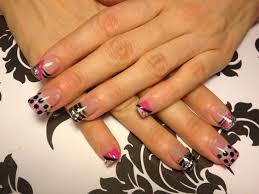 black acrylic nail designs simple nail design ideas 118710740793