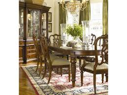 thomasville fredericksburg oval dining table with two 20