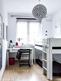 decordots monochrome scandinavian kids room with bunkbed