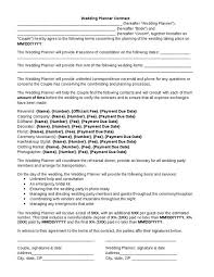 makeup contracts for weddings wedding planner contract wedding planner contract template