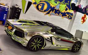 chrome wrapped cars team salamone lamborghini aventador roadster breaks cover with new