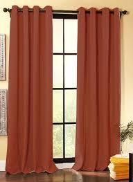 Autumn Colored Curtains Rust Orange Curtains Bedroom Orange Striped Bedroom Drapes Rust