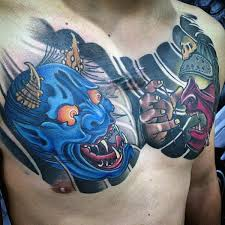 collection of 25 hannya mask sugar skull on chest