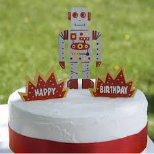 Cake Decorations Store Robot Cake Decorations Hand Crafted Wood Cake Decoration Set