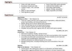 Restaurant Waitress Resume Sample by Bold Design Ideas Restaurant Server Resume 5 Best Server Resume