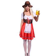 Beer Halloween Costumes Mens German Bavarian Oktoberfest Ladies Beer Maid Fancy Dress
