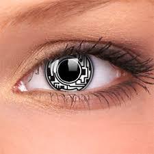 cyborg crazy contact lenses pair halloween ideas