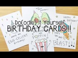 Doodle Birthday Card Diy Birthday Doodle Puns Cards Doodle With Me Youtube