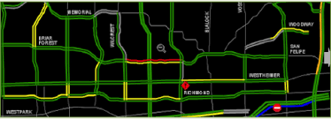 traffic map houston travel on arterials and rural highways state of the practice