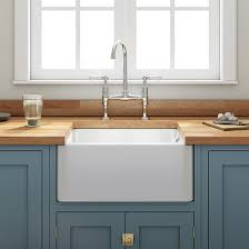 Fireclay Farmhouse Belfast White Ceramic Kitchen Sink  Waste With - Belfast kitchen sink