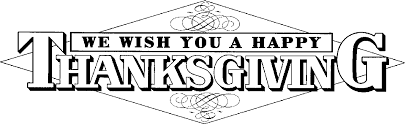 black and white happy thanksgiving clipart clipground