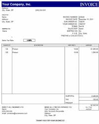 Windows Excel Templates Free Billing Invoice Template