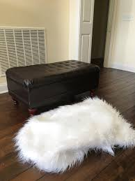 Faux Fur Ottoman Fur Ottoman Makeover In Less Than An Hour Less Than