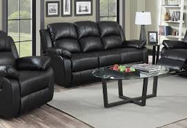 Recliner Leather Sofa Set 3 1 1 Seater Black Recliner Leather Sofa Set Sofashop