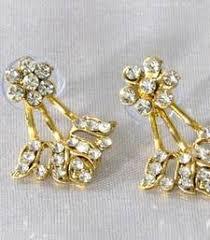 gold kaan earrings buy white golden kaan earrings online
