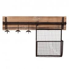 wall mounted coat rack with storage foter