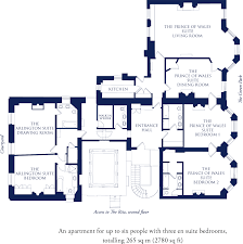 floor plan hotel the prince of wales suite on green park the ritz london