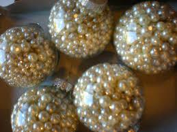 diy pearl ornaments pearl