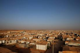 syrian desert in jordan a syrian refugee camp withers