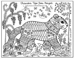 coloring pages of tigers the tail on this tiger is pretty cool http www