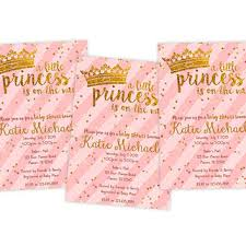 pink gold baby shower invitation gold from partyprintexpress on