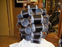 roller set relaxed hair remember going with mom grandma to get their hair done every