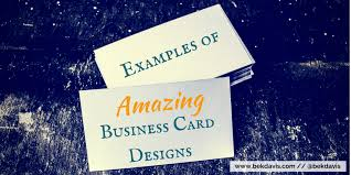 Networking Business Card Examples Examples Of Amazing Business Card Designs Bek Davis Web