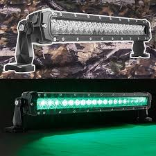 green 20 inch fishing led light bar spot