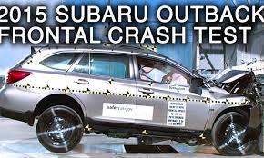 subaru outlander 2015 2015 subaru outback crash test fontal crash crashnet1