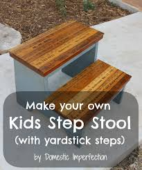 kids step stool with yardstick steps domestic imperfection
