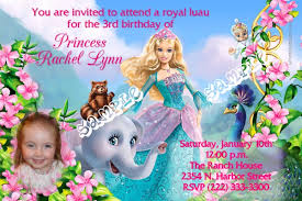 barbie birthday invitations iidaemilia com