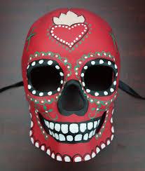 Day Of The Dead Mask Red Sugar Skull Living Room Pinterest