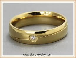 gold ring for men new product 18k gold anti allergy ring men simple single diamond