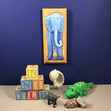 elephant wall plaque child u0027s coat hook nursery decor blue