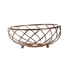 metal fruit basket kuper kitchen accessory metal gold trivet fruit basket