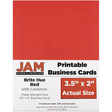 amazon com jam paper printable business cards 3 1 2