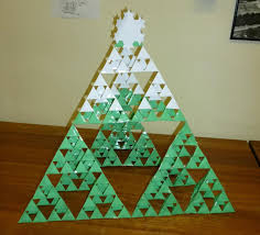 sierpinski christmas tree math craft wonderhowto