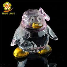 new design lovely small glass penguin ornaments wholesale