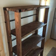 Free Standing Shelf Plans by Ana White Reclaimed Wood Rolling Shelf Diy Projects