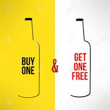 design poster buy vector beer bottle promotional design buy one get one free bar