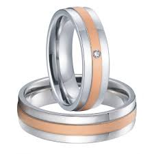 couples wedding rings custom bridal pair mens and womens titanium steel couples wedding