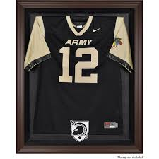 army black knights brown framed 2015 present logo jersey display