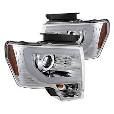 2012 ford f150 projector headlights spyder pro yd ff15009 lbdrl c chrome u bar projector led headlights