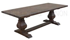 manificent decoration reclaimed wood trestle dining table valuable