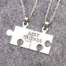 best friends puzzle necklace images 2 parts puzzle pendant necklaces silver plated friendship necklace jpg