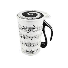 Creative Coffee Mugs Music Cup Mug Staff Notes Piano Keyboard Ceramic Cup Porcelain Mug