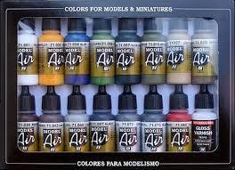 building model air paint set 16 colors hobby and model paint set