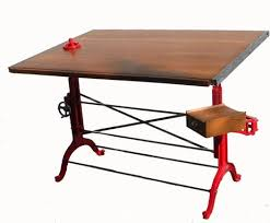 Steel Drafting Table Crafted Custom And Polished Steel Antique Wood Drafting
